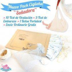 """Pack """"Cigüeña Soñadora"""" Test Embarazo y Ovulación baratos Envío Gratis"""