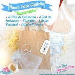 """Pack """"Cigüeña Ilusionada"""" Test Embarazo y Ovulación baratos Envío Gratis"""