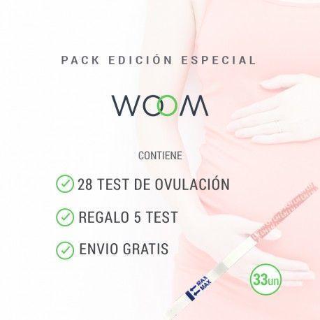 28 Test de ovulación + 5 Test Regalo. Pack Especial Woom