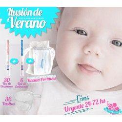"""Pack """"Ilusión de Verano"""" 30 ovulacion + 6 embarazo + Portatest + 36 Vasitos + Nacex 24-72hs"""